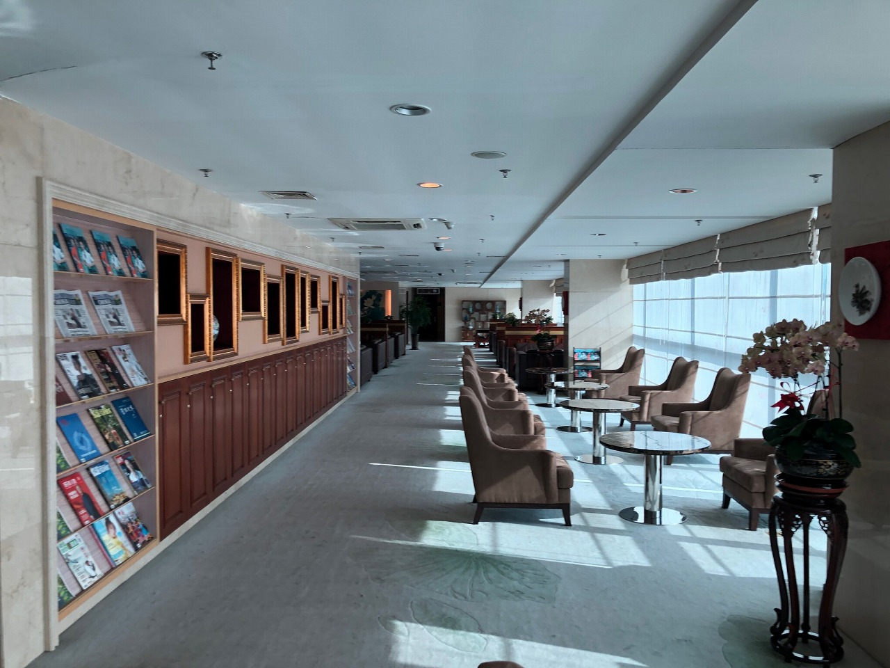 大連空港国際線ターミナル VIPラウンジ内の様子