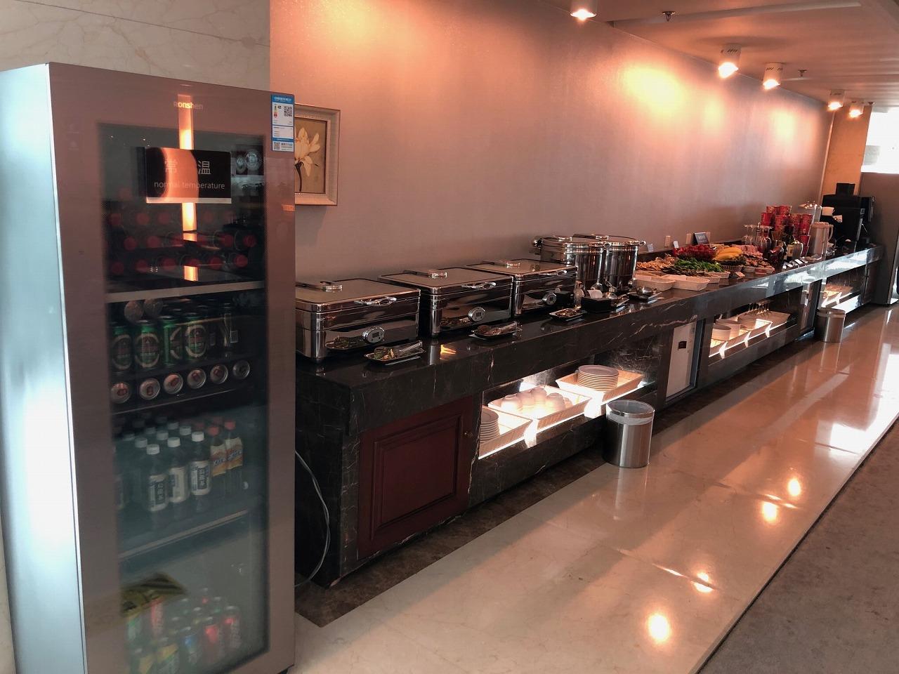 大連空港国際線ターミナル VIPラウンジ内の飲食